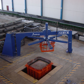 Máquina para fabricación de tubos de hormigón - Vifesa Serie k1250