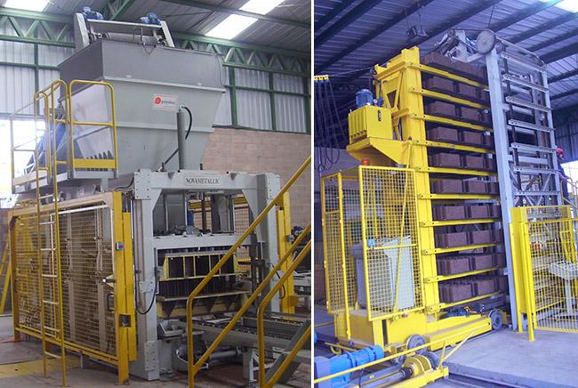 Instalación completa automática para la fabricación de bloques, Novametalic