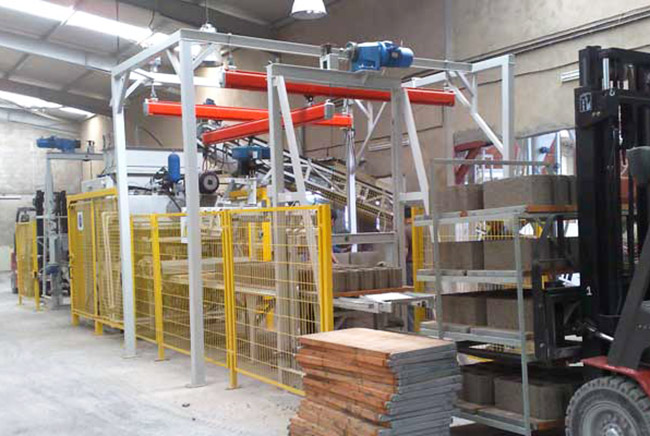 Prensas Fijas para la producción de hormigón
